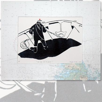 Du mou sur la pointe lithographie Marion Le Bec