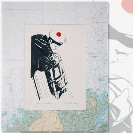Relevez les défenses lithographie Marion Le Bec