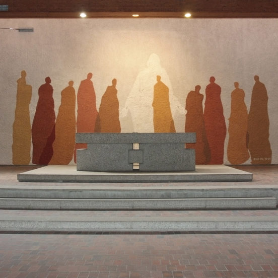 Fresque St Luc : Jean 20, 19-23