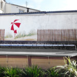 Fresque au parapluie chez un particulier - Marion Le Bec