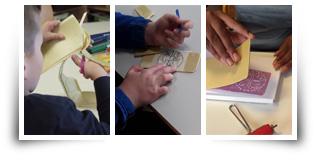 Ateliers gravure sur polystyrène