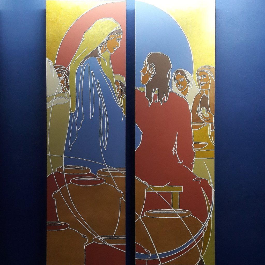 Les Noces de Cana - Mystères Lumineux à Notre-Dame du très Saint Rosaire à Kérizinen