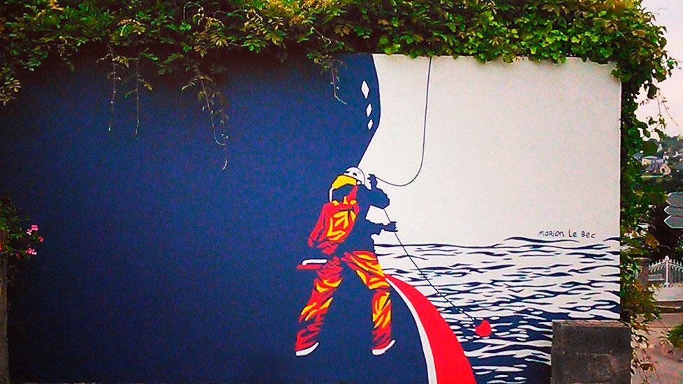 Street art Abeille Bourbon
